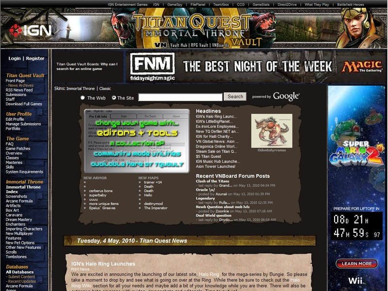 Video Game Webs - Find video game websites for your favorite video game
