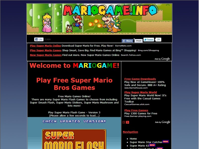 play free mario  online